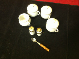 Pretty tea set white colored 7 pieces Made in France vintage image 3