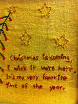 "Primitive Framed Stitching of ""Christmas is Coming"" image 3"