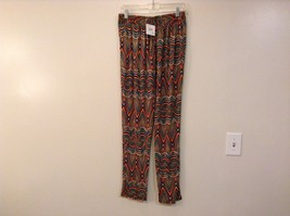 Printed wide leg pants, one size fits most w pockets elastic waist open bottom image 3