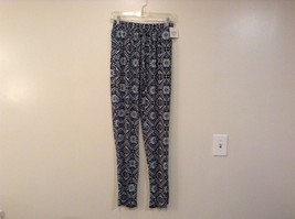Printed wide leg pants, one size fits most w pockets elastic waist open bottom image 8