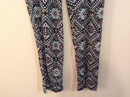 Printed wide leg pants, one size fits most w pockets elastic waist open bottom image 11