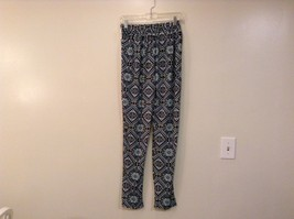 Printed wide leg pants, one size fits most w pockets elastic waist open bottom image 9