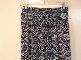 Printed wide leg pants, one size fits most w pockets elastic waist open bottom image 10