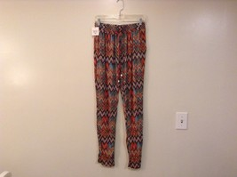 Printed wide leg pants, one size fits most w pockets elastic waist open bottom image 14