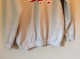 Proud to be an American Gray Long Sleeve Sweatshirt with Flag Size Large image 3