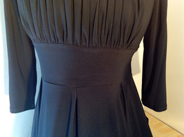 Pure Black Formal Dress Strings on Back Three Quarter Length Sleeves Size 10 image 8