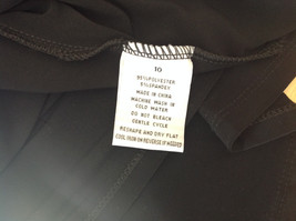 Pure Black Formal Dress Strings on Back Three Quarter Length Sleeves Size 10 image 11