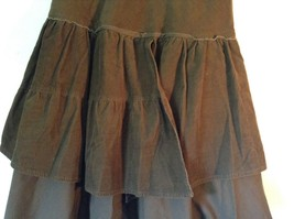 Promod Brown Skirt 100 Percent Cotton Side Zipper Side Measurements Below image 3