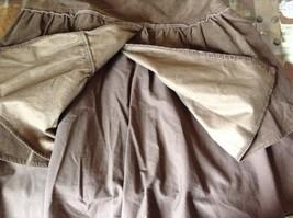 Promod Brown Skirt 100 Percent Cotton Side Zipper Side Measurements Below image 8