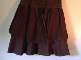 Promod Brown Skirt 100 Percent Cotton Side Zipper Side Measurements Below image 4