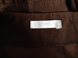 Promod Brown Skirt 100 Percent Cotton Side Zipper Side Measurements Below image 7