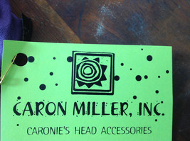Purple Black Frilly Wide Headband Can be Worn as Either Color Caron Miller Inc image 7