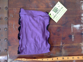 Purple Black Frilly Wide Headband Can be Worn as Either Color Caron Miller Inc image 5