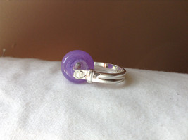 Purple Bead Silver Ring Size 4.5 by Beadit image 2