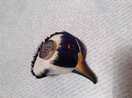 Purple Black White Duck Head Magnet Recycled Rabbit Fur by Lifes Attractions image 5