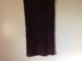 Purple Black See Through Short Sleeve Dress by Elin Cosyo California No Size Tag image 3