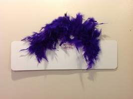 Queen of the Court Groovy Signs Metal Sign Hanger Purple Feathers Pink Purple image 2