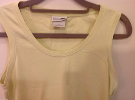 REI Womans Sleeveless Light Green Stretchable Cotton Tank Top Blouse, Size S image 2