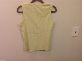 REI Womans Sleeveless Light Green Stretchable Cotton Tank Top Blouse, Size S image 3