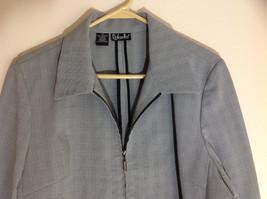 Rafaella Gray Zip Up Long Sleeved Formal Jacket Collared Front Pockets Size 8 image 2