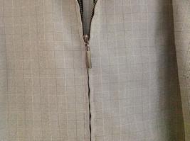 Rafaella Gray Zip Up Long Sleeved Formal Jacket Collared Front Pockets Size 8 image 3