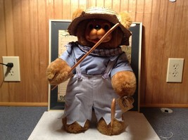 Raikes Bears Tom Sawyer Bear Wearing Hat and Shirt and Pants Wooden Face Vintage image 2