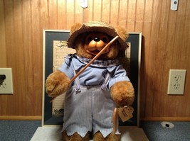 Raikes Bears Tom Sawyer Bear Wearing Hat and Shirt and Pants Wooden Face Vintage image 3