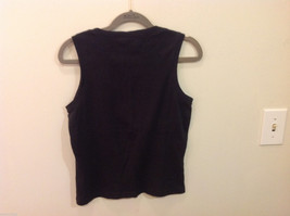 REI Womens Sleeveless Black Stretchable Cotton Tank Top Blouse, Size S image 3