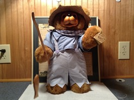 Raikes Bears Tom Sawyer Bear Wearing Hat and Shirt and Pants Wooden Face Vintage image 4