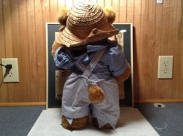 Raikes Bears Tom Sawyer Bear Wearing Hat and Shirt and Pants Wooden Face Vintage image 5