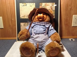 Raikes Bears Tom Sawyer Bear Wearing Hat and Shirt and Pants Wooden Face Vintage image 6