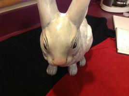 Rabbit white 16 inches Ceramic statue image 2