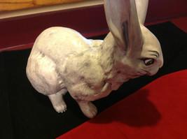 Rabbit white 16 inches Ceramic statue image 7