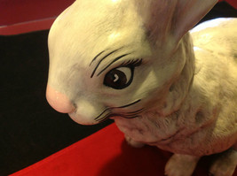 Rabbit white 16 inches Ceramic statue image 6