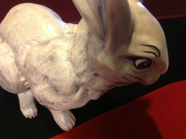 Rabbit white 16 inches Ceramic statue image 8