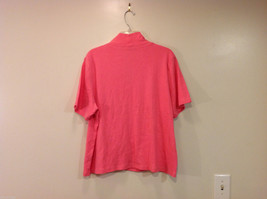 Rafaella Woman V-neck Pink 100% Cotton Short Sleeve T-shirt, Size 3X image 2