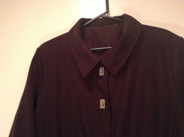 Rain Shedder Dark Burgundy Brown Fully Lined Raincoat Size 20W image 2