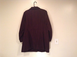 Rain Shedder Dark Burgundy Brown Fully Lined Raincoat Size 20W image 5