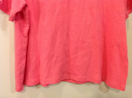 Rafaella Woman V-neck Pink 100% Cotton Short Sleeve T-shirt, Size 3X image 6