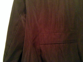 Rain Shedder Dark Burgundy Brown Fully Lined Raincoat Size 20W image 7