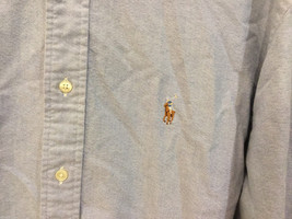 Ralph Lauren 100% Cotton Light Blue long sleeve Classic Fit Shirt, size 16-1/2 image 3
