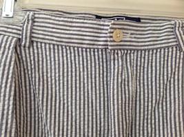 Ralph Lauren Gray White Striped 4 Pocket Pants Zip Button Closure Size 38 x 30 image 5