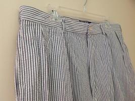 Ralph Lauren Gray White Striped 4 Pocket Pants Zip Button Closure Size 38 x 30 image 4