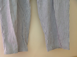 Ralph Lauren Gray White Striped 4 Pocket Pants Zip Button Closure Size 38 x 30 image 3