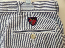 Ralph Lauren Gray White Striped 4 Pocket Pants Zip Button Closure Size 38 x 30 image 6