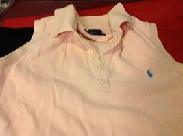 Ralph Lauren Sport Womens Pink Sleeveless Polo Shirt Tank Top size S M image 3