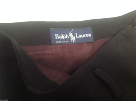 Ralph Lauren Black Knee Length Pencil Skirt Lined NO Size tag (see measurements) image 3