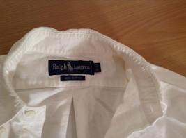 Ralph Lauren 100 Percent Cotton Long Sleeve White Dress Shirt Size 15 by 33 image 8