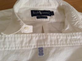 Ralph Lauren 100 Percent Cotton Long Sleeve White Dress Shirt Size 15 by 33 image 9