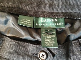 Ralph Lauren Size 6 Black Pleated Front Dress Pants Worsted Wool image 7